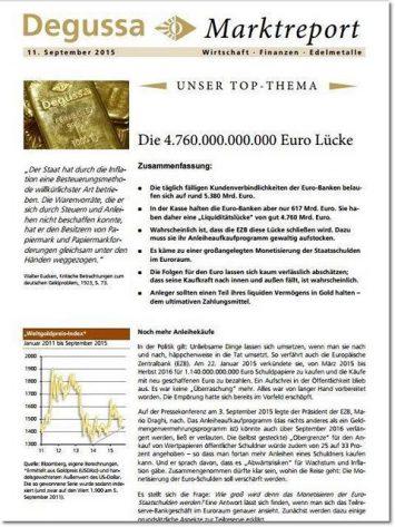 Degussa Marktbericht