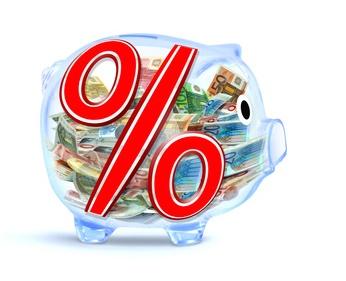 Sparschwein mit Null-Zinsen